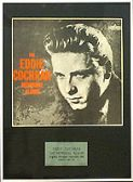 EDDIE COCHRAN - Framed LP Cover - THE MEMORIAL ALBUM